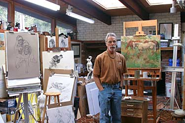 sam in his studio